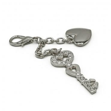 Ciondolo Key Heart Argento